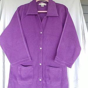 NWOT Norm Thompson PM purple bathrobe